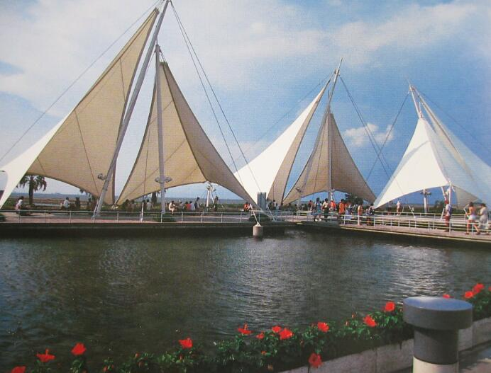 青岛膜结构景观广场