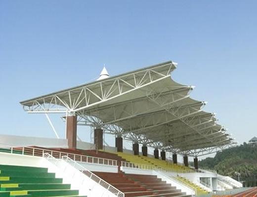 青岛膜结构看台体育馆