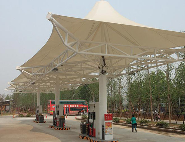 中石化加油站膜结构