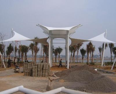 景区膜结构景观施工