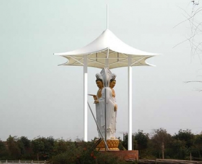石溪寺张拉膜结构景观
