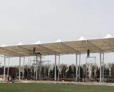 城阳国际足球公园看台膜结构