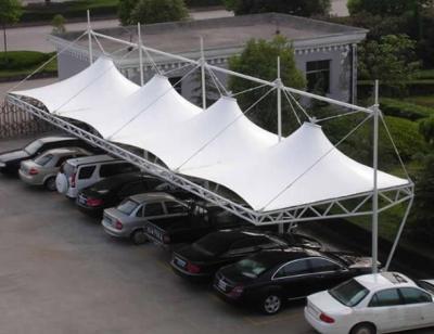 吊帽口型膜结构停车棚