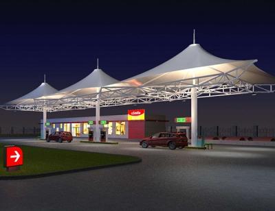 宁阳加油站膜结构建筑