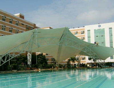 平度膜结构泳池