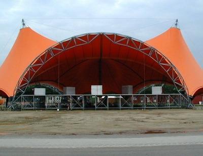 平度张拉膜结构舞台雨棚