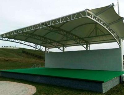 高抗风膜结构舞台雨棚
