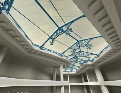 膜结构展馆屋顶装饰
