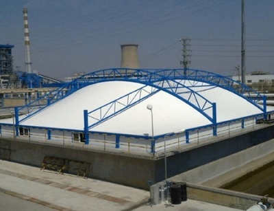 宁阳耐酸碱污水池膜结构建筑