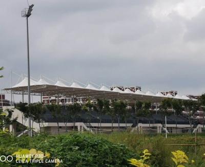 青岛农业大学平度校区体育场膜结构看台