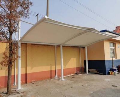 夏格庄中学小车膜结构停车棚完工