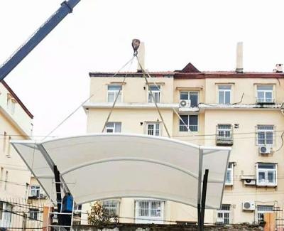 青岛延安二路小学吊装小型膜结构看台