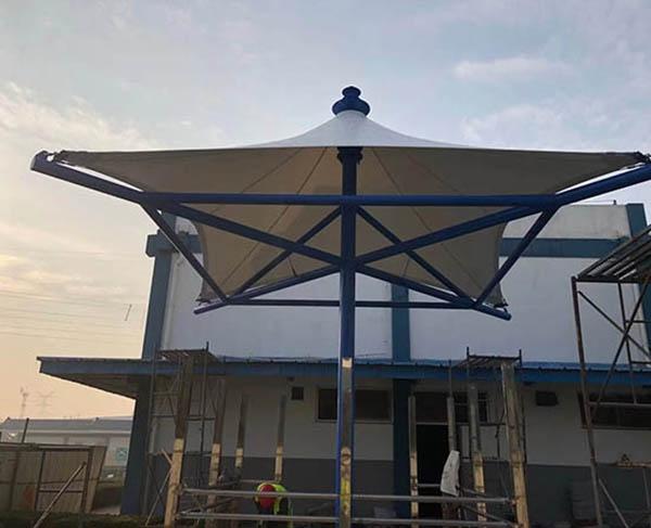 莱西雀巢咖啡遮阳膜结构景观小伞完工